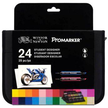 Набор двухсторонних маркеров Winsor&Newton Promarker. 24 цвета