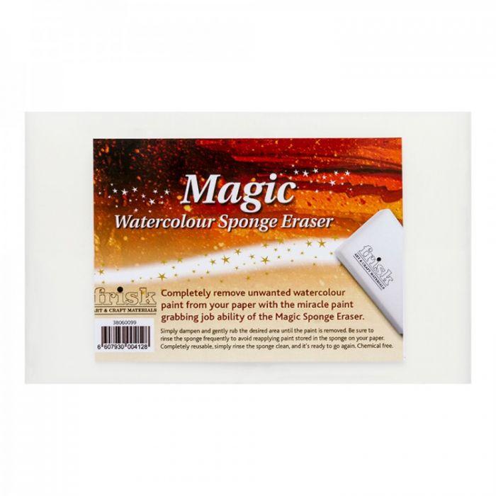 Волшебная губка для удаления акварельной краски - Frisk Magic Watercolour Sponge Eraser (в комплекте 4 шт.)