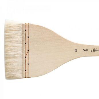 Кисть для акварели Silver Brush Atelier Hake из шерсти козы 5001 плоская с длинной ручкой № 50