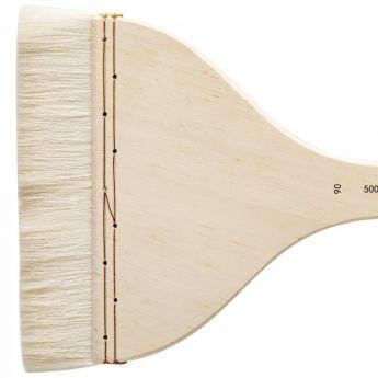 Кисть для акварели Silver Brush Atelier Hake из шерсти козы 5001 плоская с длинной ручкой № 90