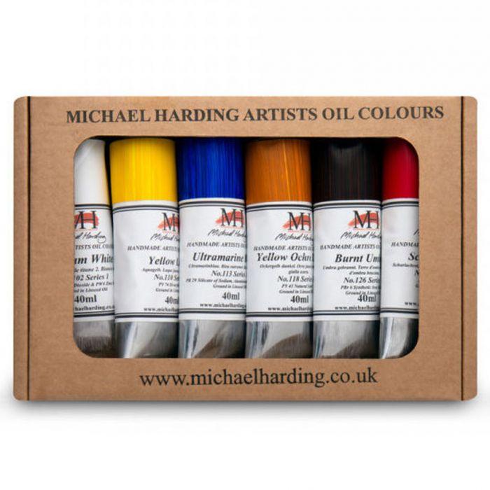 "Масляные краски MICHAEL HARDING. Набор ""Introductory Set"" 6 цветов по 40 мл"