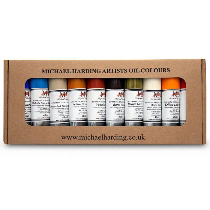 Масляные краски MICHAEL HARDING. Набор «Desert Set» 10 цветов по 40 мл