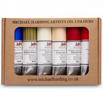 """Масляные краски MICHAEL HARDING. Набор """"Modern Master Set"""" 6 цветов по 40 мл"""