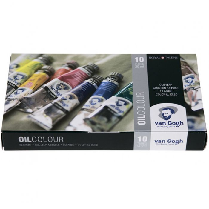 Набор масляных красок VAN GOGH от Royal Talens. Картонная коробка. 10 цветов в тубах 20 мл
