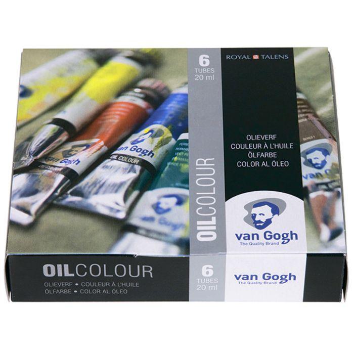 Набор масляных красок VAN GOGH Starter от Royal Talens. 6 цветов в тубах 20 мл