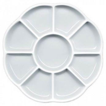 Керамическая палитра «Маргаритка» на 9 лунок. Диаметр 20 см.