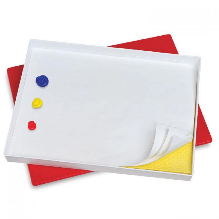 Герметичная палитра бокс от Masterson - Sta-Wet Premier Palette с губкой и пятью листами бумаги - 30 х 40 х 4,5 см