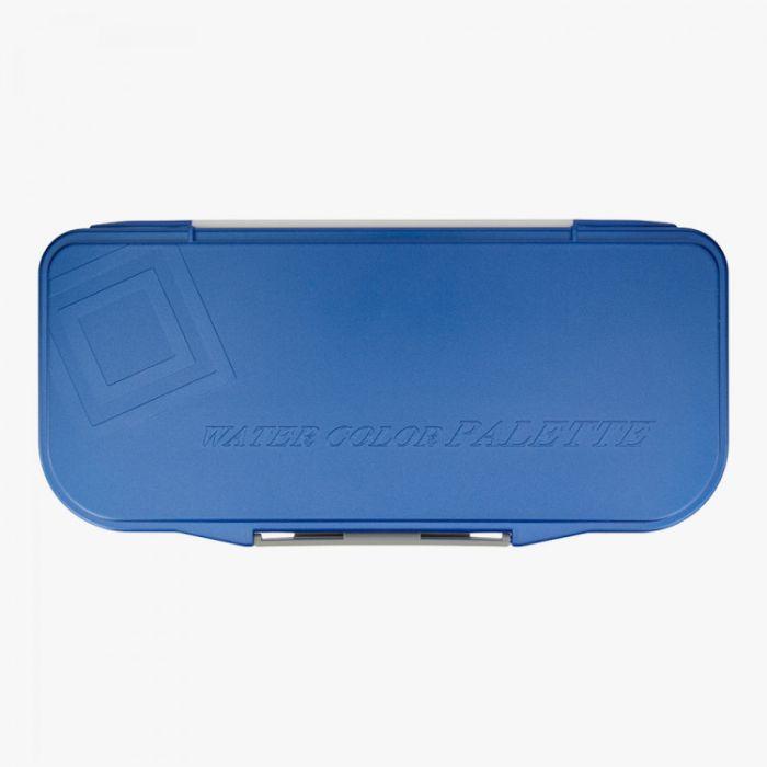 Складная пластиковая палитра MIJELLO FUSION 18 (Миджелло Фьюжн) со съёмным поддоном на 18 цветов. Blue