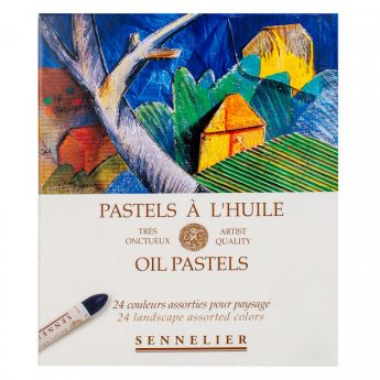 Пастель масляная Sennelier. Набор 24 цвета, серия «Пейзаж»