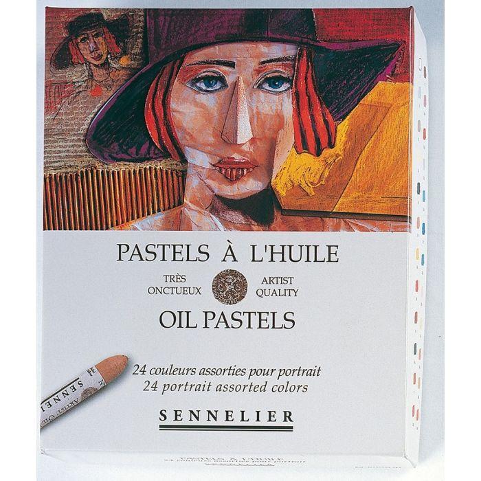 Пастель масляная Sennelier. Набор 24 цвета, серия «Портрет»