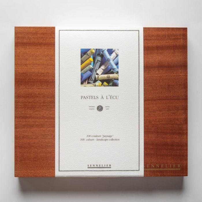 Пастель сухая Sennelier. Серия Landscape. Набор 100 мелков в деревянной коробке.