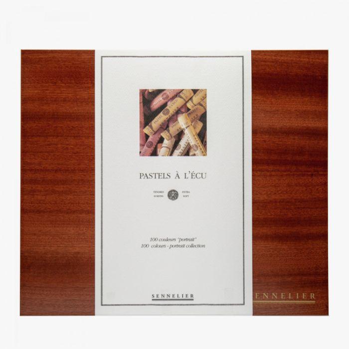 Пастель сухая Sennelier. Серия Portrait. Набор 100 мелков в деревянной коробке.