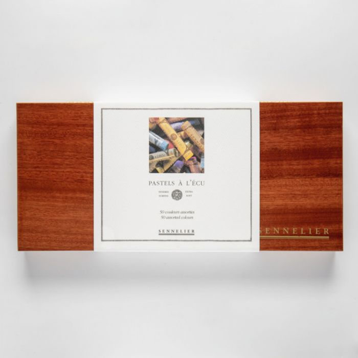 Пастель сухая Sennelier. Набор 50 мелков в деревянной коробке