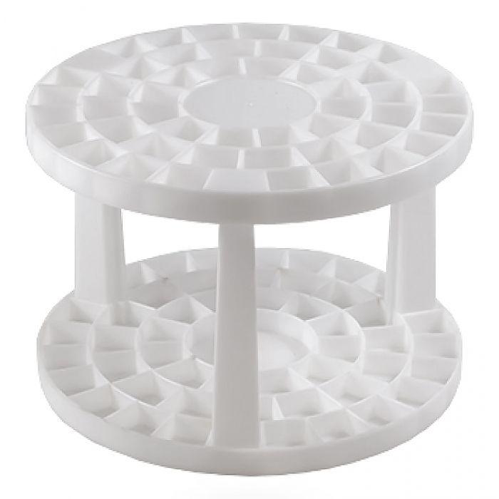 Подставка для кистей круглая. Пластик.  На 49 предметов. 14.5 x 10 см