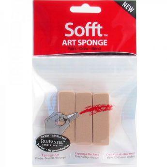 PanPastel  - Набор инструментов Sofft для пастели, 3 спонжика в форме прямоугольника