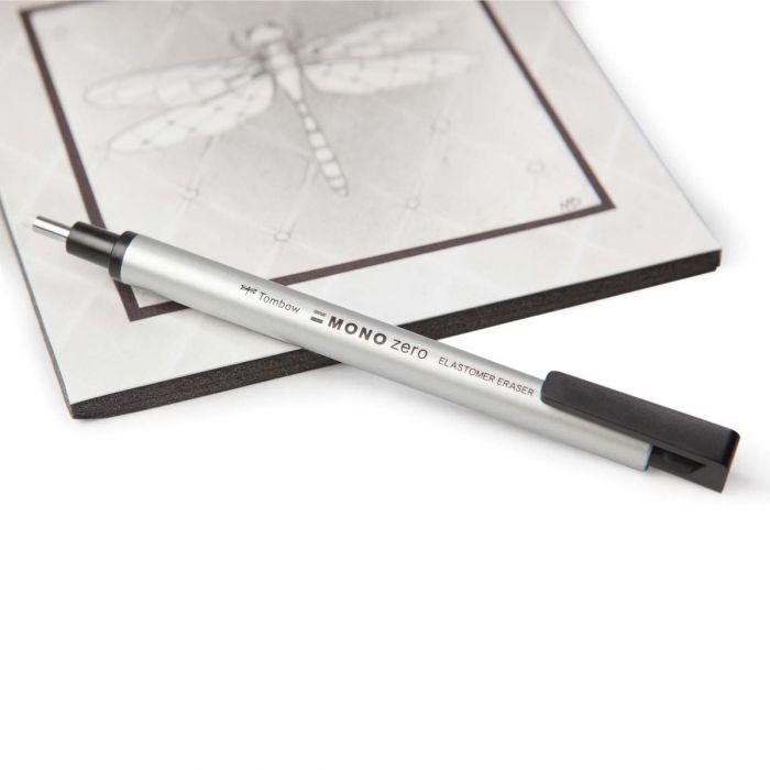 Ластик ручка Tombow Mono Zero с круглым стержнем наконечником 2.3 мм