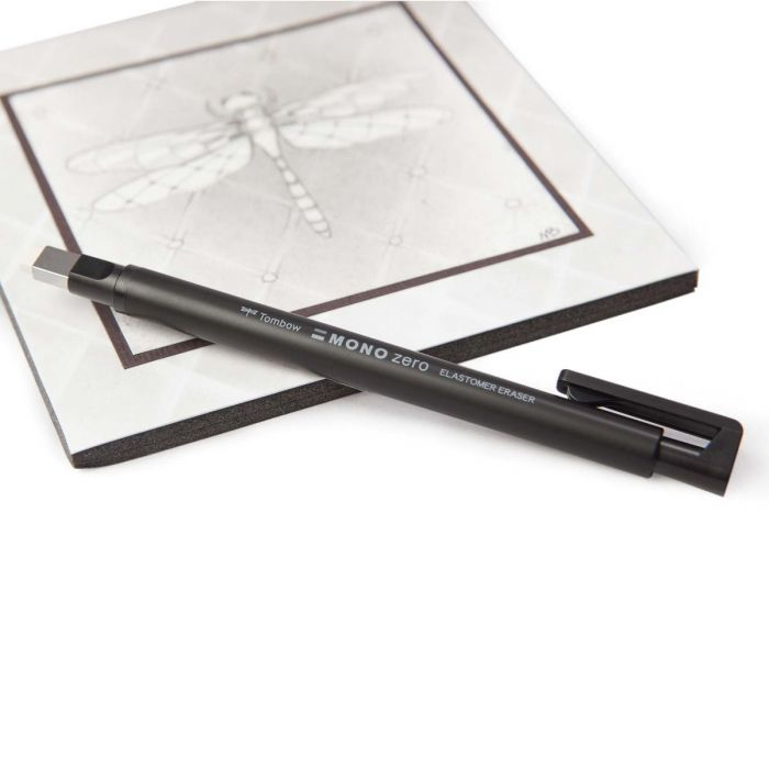 Ластик ручка Tombow Mono Zero с прямоугольным стержнем наконечником 2.5 х 5 мм (Цвет черный)