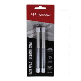 Запасной прямоугольный ластик стержень для ручки Tombow Mono Zero 2.3 мм - 2 упаковки по 2 ластика