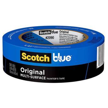 ScotchBlue скотч (клейкая лента), производитель 3M. Для закрепления бумаги для акварели, графики и рисунка, 3,81 см х 55 м. (Blue) - 2090